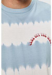 Niebieska koszulka z długim rękawem Vans na co dzień, casualowa