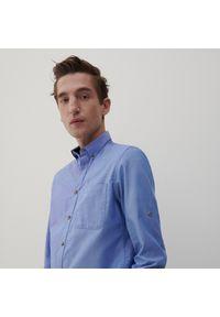 Reserved - Koszula regular fit z bawełny organicznej - Niebieski. Kolor: niebieski. Materiał: bawełna