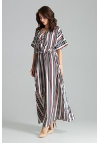 Sukienka elegancka, kopertowa