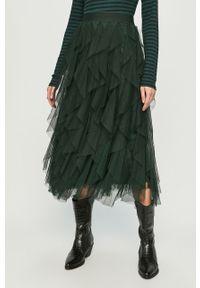 Zielona spódnica only casualowa, z podwyższonym stanem