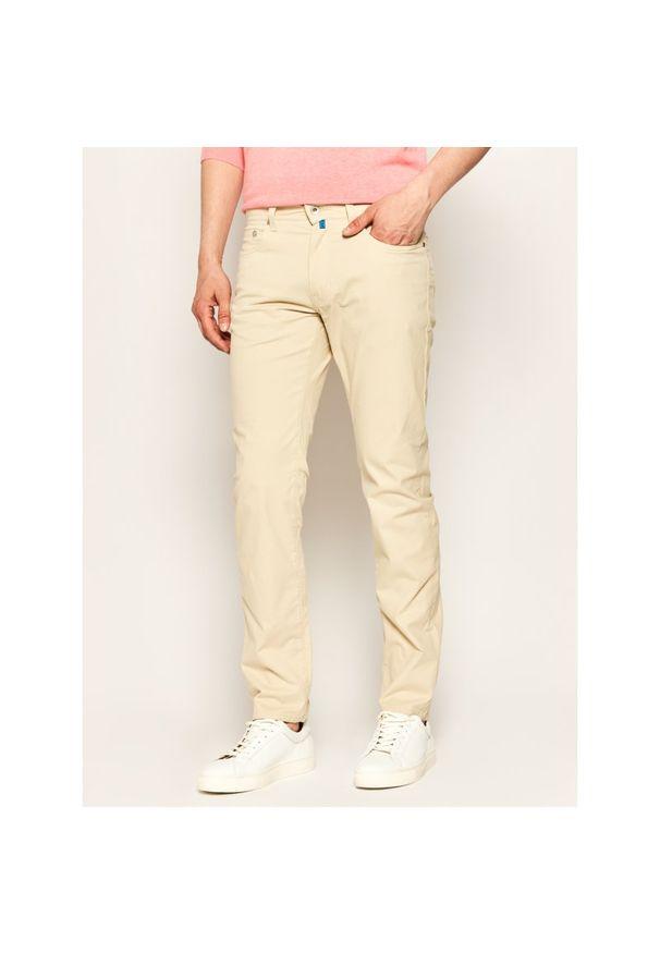 Beżowe spodnie Pierre Cardin