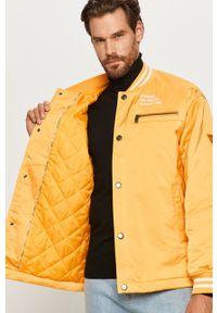 Żółta kurtka Guess Jeans bez kaptura