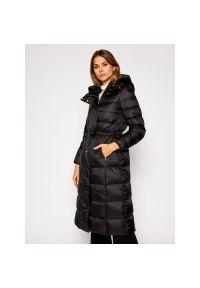 Czarny płaszcz zimowy Geox