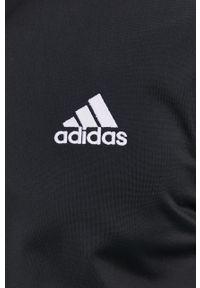 Czarny komplet dresowy Adidas gładki