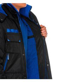 Czarna kurtka Ombre Clothing z kapturem, na zimę