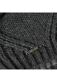 Zimowa czapka damska PaMaMi - Ciemnoszary. Kolor: szary. Materiał: poliamid, akryl. Sezon: zima