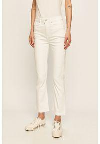 Białe jeansy TOMMY HILFIGER z podwyższonym stanem