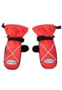 Czerwone rękawiczki sportowe Volcom narciarskie