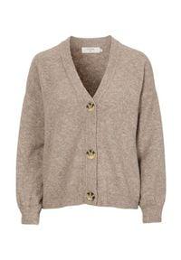 Cream Sweter Angha beżowy melanż female beżowy L (40/42). Typ kołnierza: dekolt w serek. Kolor: beżowy. Materiał: prążkowany. Wzór: melanż. Styl: klasyczny
