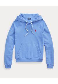 Ralph Lauren - RALPH LAUREN - Niebieska bluza z kapturem Relaxed Fit. Typ kołnierza: kaptur. Kolor: niebieski. Materiał: bawełna. Wzór: haft