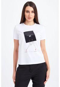 T-shirt Elisabetta Franchi casualowy, na co dzień