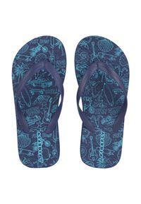 Klapki dla dzieci Firefly Madera 302932. Okazja: na co dzień, na spacer, na plażę. Materiał: skóra, materiał, guma. Wzór: paski, kolorowy. Sezon: lato. Styl: sportowy, wakacyjny, casual