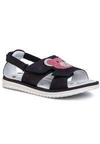 Czarne sandały Lasocki Kids na co dzień, casualowe, z aplikacjami, na lato