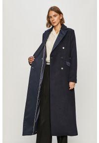 Niebieski płaszcz Marciano Guess bez kaptura, klasyczny, na co dzień