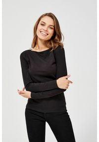 MOODO - Bluzka basic. Materiał: bawełna, elastan. Długość rękawa: długi rękaw. Długość: długie. Wzór: gładki