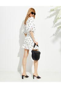 MARIANNA SENCHINA - Biała sukienka Eye Candy. Okazja: na randkę, na wesele, na ślub cywilny, na imprezę. Kolor: biały. Wzór: grochy. Długość: mini
