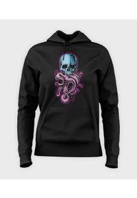 MegaKoszulki - Bluza damska z kapturem Tentacle Skull. Typ kołnierza: kaptur