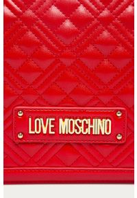 Czerwona listonoszka Love Moschino z aplikacjami, z aplikacjami