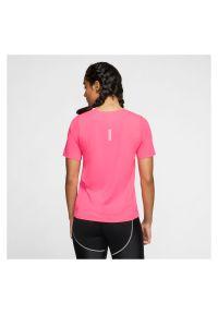 Koszulka damska do biegania Nike CJ9444. Materiał: poliester, tkanina, materiał. Długość rękawa: krótki rękaw. Technologia: Dri-Fit (Nike). Długość: krótkie