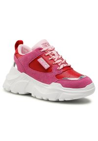 Różowe buty sportowe Versace Jeans Couture