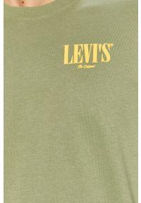 Zielony t-shirt Levi's® casualowy, na spotkanie biznesowe