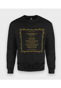 MegaKoszulki - Bluza klasyczna Złote zasady spotykania się z moją córką. Kolor: złoty. Styl: klasyczny