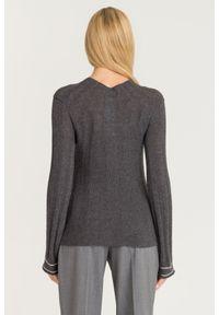 Sweter Emporio Armani na spacer, z długim rękawem, krótki