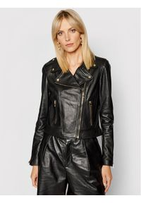 LaMarque Kurtka skórzana Donna 21 Czarny Tailored Fit. Kolor: czarny. Materiał: skóra