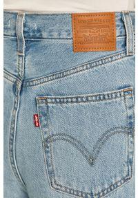 Niebieskie jeansy Levi's® biznesowe, z podwyższonym stanem