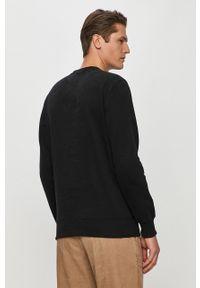 Czarna bluza nierozpinana Pepe Jeans na co dzień, casualowa, z nadrukiem, bez kaptura