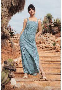 Sukienka na lato, maxi, dopasowana