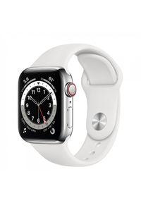 APPLE - Smartwatch Apple Watch 6 GPS+Cellular 40mm stalowy, srebrny | biały pasek sportowy. Rodzaj zegarka: smartwatch. Kolor: srebrny, biały, wielokolorowy, szary. Styl: sportowy