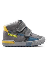 Bartek - Trzewiki BARTEK - 91756-001 Szary. Kolor: szary. Materiał: skóra, zamsz. Szerokość cholewki: normalna. Sezon: zima