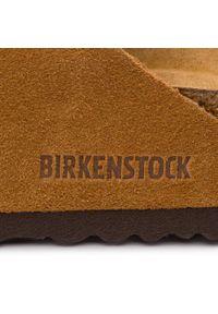 Brązowe klapki Birkenstock klasyczne