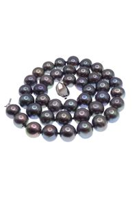 Braccatta - TAHURU naszyjnik naturalne perły czarne peacock kolia 40 - 160 cm. Materiał: srebrne. Kolor: czarny. Wzór: motyw z bajki, gładki, aplikacja. Kamień szlachetny: perła