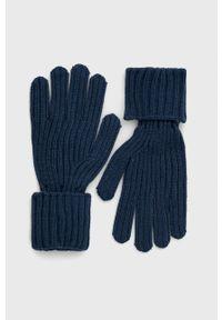 Pepe Jeans - Rękawiczki Emily. Kolor: niebieski. Materiał: dzianina