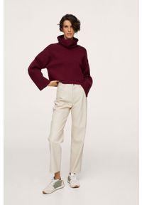 mango - Mango - Sweter Mini. Typ kołnierza: golf. Kolor: czerwony. Długość rękawa: długi rękaw. Długość: długie