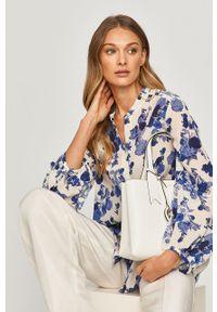 Niebieska koszula MAX&Co. z długim rękawem, casualowa, w kwiaty, długa