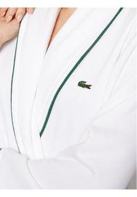 Biały szlafrok Lacoste
