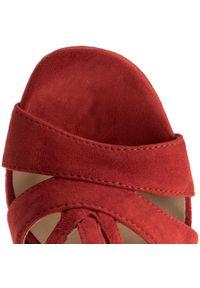 Czerwone sandały Eva Minge na obcasie, eleganckie, na średnim obcasie #7
