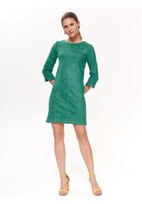 Zielona sukienka TOP SECRET z krótkim rękawem, elegancka, prosta, mini