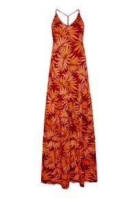 Maaji Sukienka letnia 1617CLD003 Pomarańczowy Regular Fit. Kolor: pomarańczowy. Sezon: lato