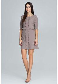 Sukienka z falbanami Figl z falbankami, mini