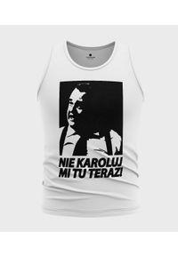 MegaKoszulki - Koszulka męska bez rękawów Nie Karoluj mi tu. Materiał: bawełna. Długość rękawa: bez rękawów