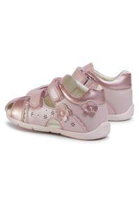 Różowe sandały Geox z aplikacjami