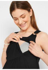 Sukienka ciążowa i do karmienia LENZING™ ECOVERO™ bonprix czarny. Kolekcja: moda ciążowa. Kolor: czarny. Sezon: lato