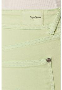 Pepe Jeans - Szorty. Okazja: na co dzień. Kolor: turkusowy. Materiał: tkanina. Wzór: gładki. Styl: casual