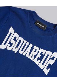 DSQUARED2 KIDS - Bawełniany t-shirt z logo marki 4-16 lat. Kolor: niebieski. Materiał: bawełna. Sezon: lato. Styl: klasyczny #3