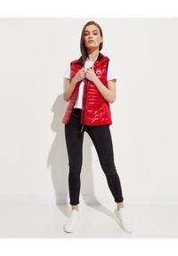 CANADA GOOSE - Czerwona kamizelka Hybridge. Okazja: na spacer. Kolor: czerwony. Materiał: materiał, puch. Długość: długie. Wzór: aplikacja