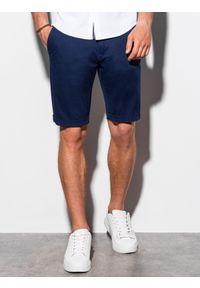 Niebieskie szorty Ombre Clothing na lato, krótkie, na co dzień, casualowe